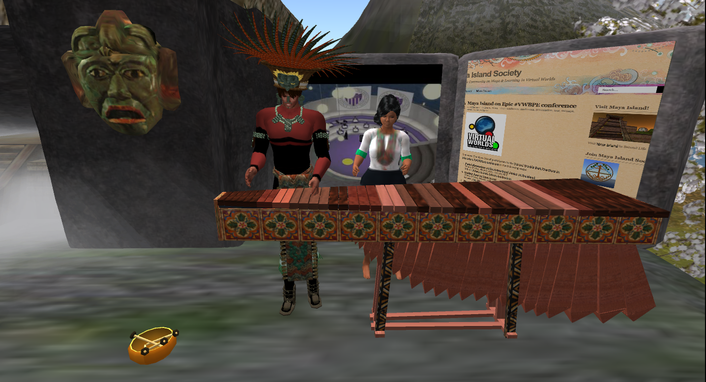 Playing Marimba at the Maya Island poster in VWBPE